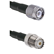 TNC Male on LMR100 to Mini-UHF Female Cable Assembly