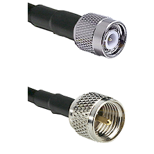 TNC Male on LMR100 to Mini-UHF Male Cable Assembly
