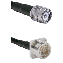 TNC Male on LMR-195-UF UltraFlex to 7/16 4 Hole Female Cable Assembly