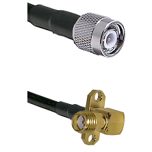 TNC Male on LMR-195-UF UltraFlex to SMA 2 Hole Right Angle Female Cable Assembly