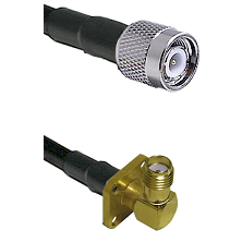 TNC Male on LMR-195-UF UltraFlex to SMA 4 Hole Right Angle Female Cable Assembly