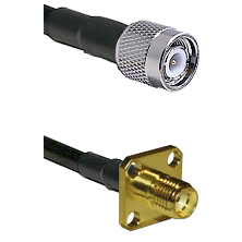 TNC Male on LMR-195-UF UltraFlex to SMA 4 Hole Female Cable Assembly