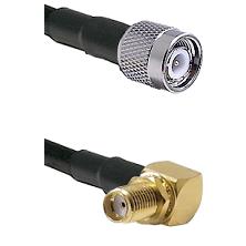 TNC Male Connector On LMR-240UF UltraFlex To SMA Reverse Thread Right Angle Female Bulkhead Connecto