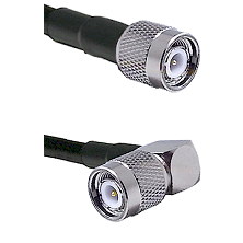 TNC Male On LMR400UF To Right Angle TNC Male Connectors Ultra Flex Coaxial Cable