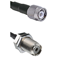 TNC Male On LMR400UF To UHF Female Bulk Head Connectors Ultra Flex Coaxial Cable