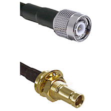 TNC Male on RG142 to 10/23 Female Bulkhead Cable Assembly