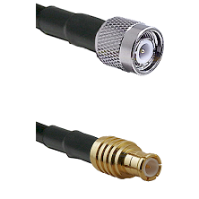 TNC Male on RG142 to MCX Male Cable Assembly