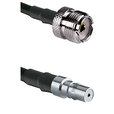 UHF Female on LMR-195-UF UltraFlex to QMA Female Cable Assembly