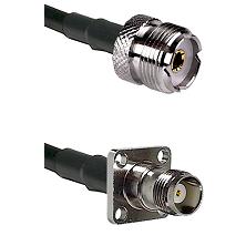 UHF Female on LMR-195-UF UltraFlex to TNC 4 Hole Female Cable Assembly