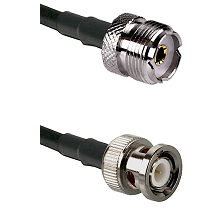 UHF Female on LMR200 UltraFlex to BNC Male Cable Assembly