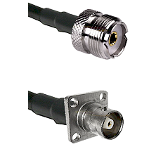 UHF Female on LMR200 UltraFlex to C 4 Hole Female Cable Assembly
