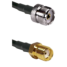 UHF Female Connector On LMR-240UF UltraFlex To SMA Reverse Thread Female Connector Coaxial Cable Ass