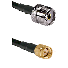 UHF Female on LMR240 Ultra Flex to SMA Reverse Thread Male Cable Assembly