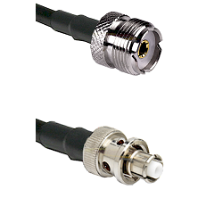 UHF Female Connector On LMR-240UF UltraFlex To SHV Plug Connector Cable Assembly