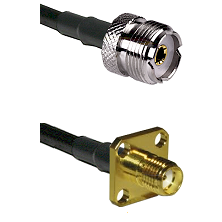UHF Female Connector On LMR-240UF UltraFlex To SMA 4 Hole Female Connector Cable Assembly