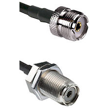 UHF Female On LMR400UF To UHF Female Bulk Head Connectors Ultra Flex Coaxial Cable