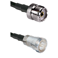 UHF Female on RG142 to 7/16 Din Female Cable Assembly