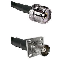UHF Female on RG142 to C 4 Hole Female Cable Assembly