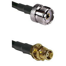 UHF Female on RG142 to MCX Female Bulkhead Cable Assembly