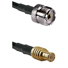 UHF Female on RG142 to MCX Male Cable Assembly