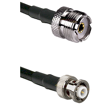 UHF Female on RG142 to MHV Male Cable Assembly