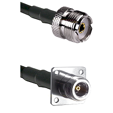 UHF Female on RG142 to N 4 Hole Female Cable Assembly