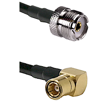 UHF Female on RG142 to SMB Right Angle Female Cable Assembly