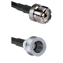 UHF Female Connector On RG188A/U To QN Male Connector Cable Assembly