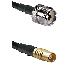UHF Female on RG58C/U to MCX Female Cable Assembly