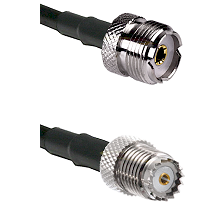 UHF Female on RG58 to Mini-UHF Female Cable Assembly