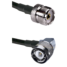 UHF Female on RG58C/U to C Right Angle Male Cable Assembly