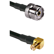 UHF Female on RG58C/U to MCX Right Angle Male Cable Assembly