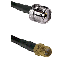 UHF Female on RG58C/U to SMA Reverse Polarity Female Cable Assembly