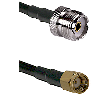 UHF Female on RG58C/U to SMA Reverse Polarity Male Cable Assembly