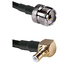 UHF Female on RG58C/U to SMB Right Angle Male Cable Assembly