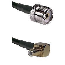UHF Female on RG58C/U to SMC Right Angle Male Cable Assembly