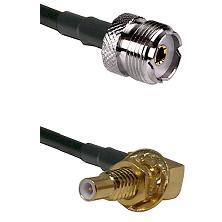 UHF Female on RG58C/U to SLB Male Bulkhead Cable Assembly