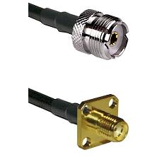 UHF Female on RG58 to SMA 4 Hole Female Cable Assembly