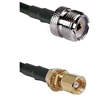 UHF Female on RG58C/U to SMC Female Bulkhead Cable Assembly