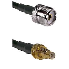 UHF Female on RG58C/U to SMC Male Bulkhead Cable Assembly