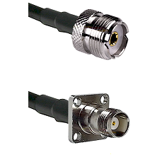UHF Female on RG58C/U to TNC 4 Hole Female Cable Assembly