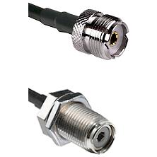 UHF Female To UHF Female Bulk Head Connectors RG58C/U Cable Assembly