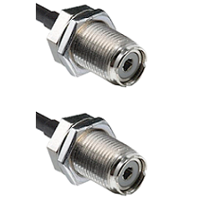 UHF Female Bulk Head To UHF Female Bulk Head Connectors RG188 Cable Assembly