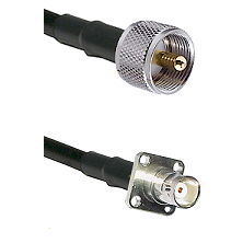 UHF Male on LMR100 to BNC 4 Hole Female Cable Assembly