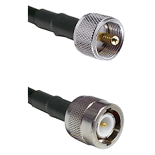 UHF Male on LMR100 to C Male Cable Assembly