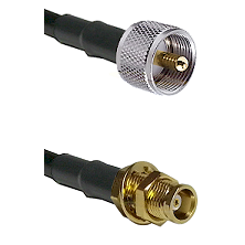 UHF Male on LMR100 to MCX Female Bulkhead Cable Assembly