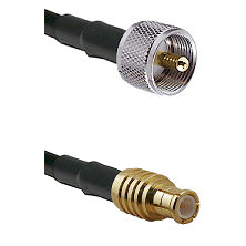 UHF Male on LMR100 to MCX Male Cable Assembly
