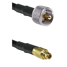 UHF Male on LMR100 to MMCX Male Cable Assembly