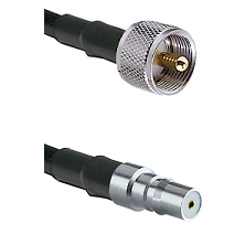 UHF Male on LMR100 to QMA Female Cable Assembly