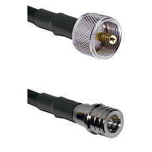 UHF Male on LMR100 to QMA Male Cable Assembly